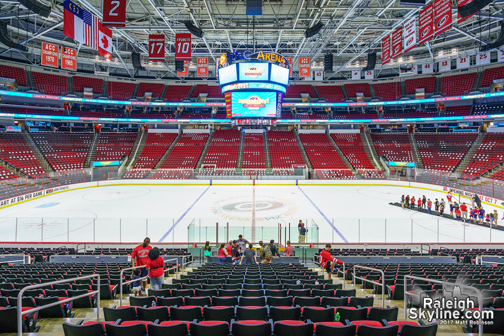 PNC Arena after summerfest