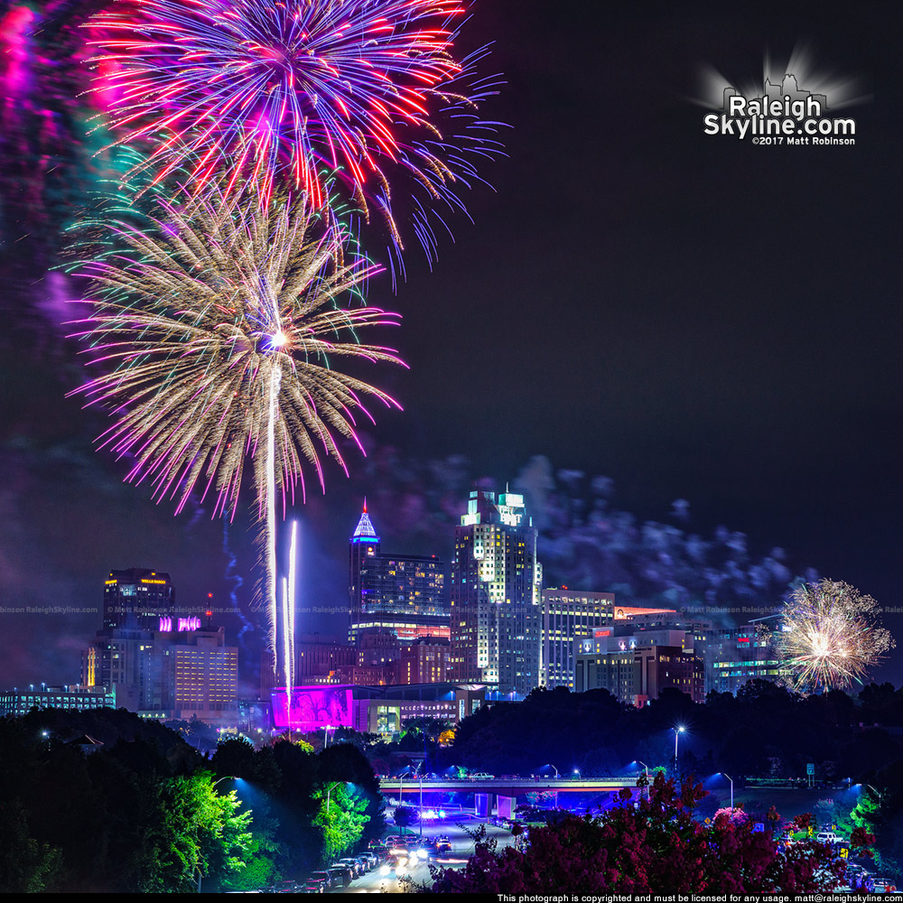 July Fourth fireworks blast off over downtown Raleigh