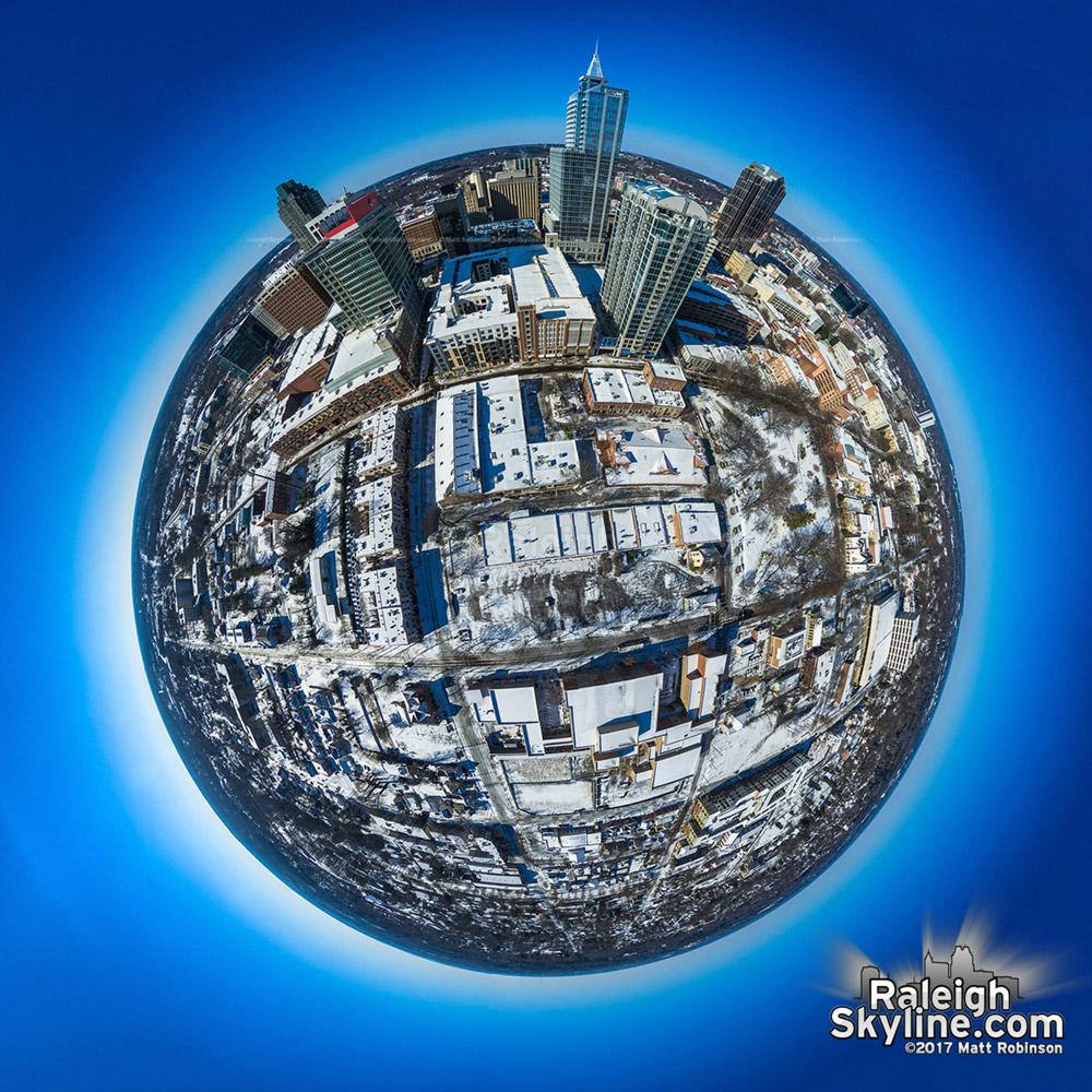 Raleigh Snow Globe 2017