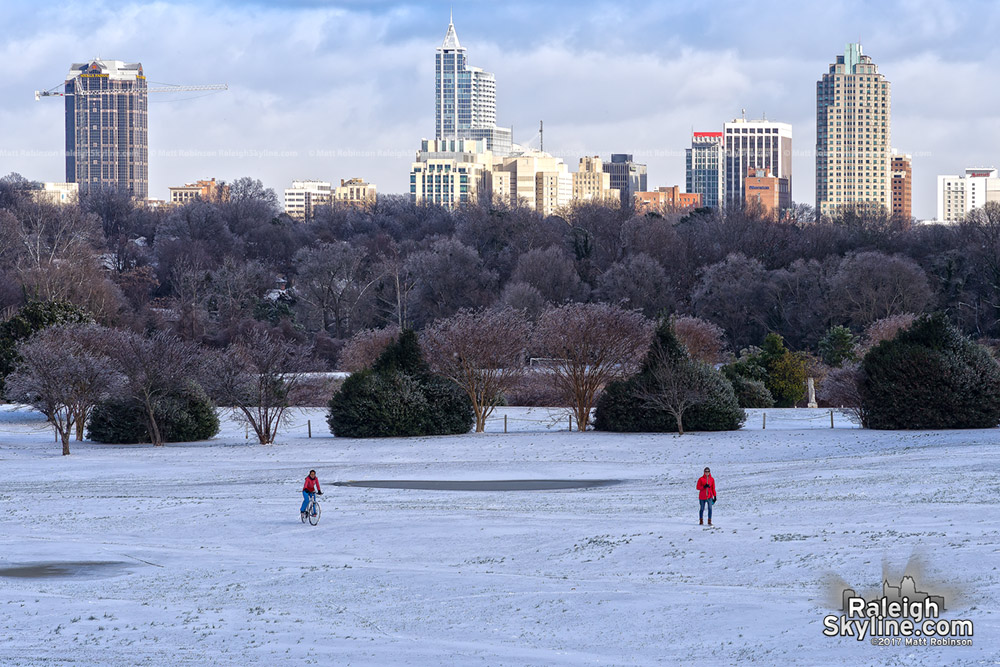 Raleigh from Dorothea Dix in the snow