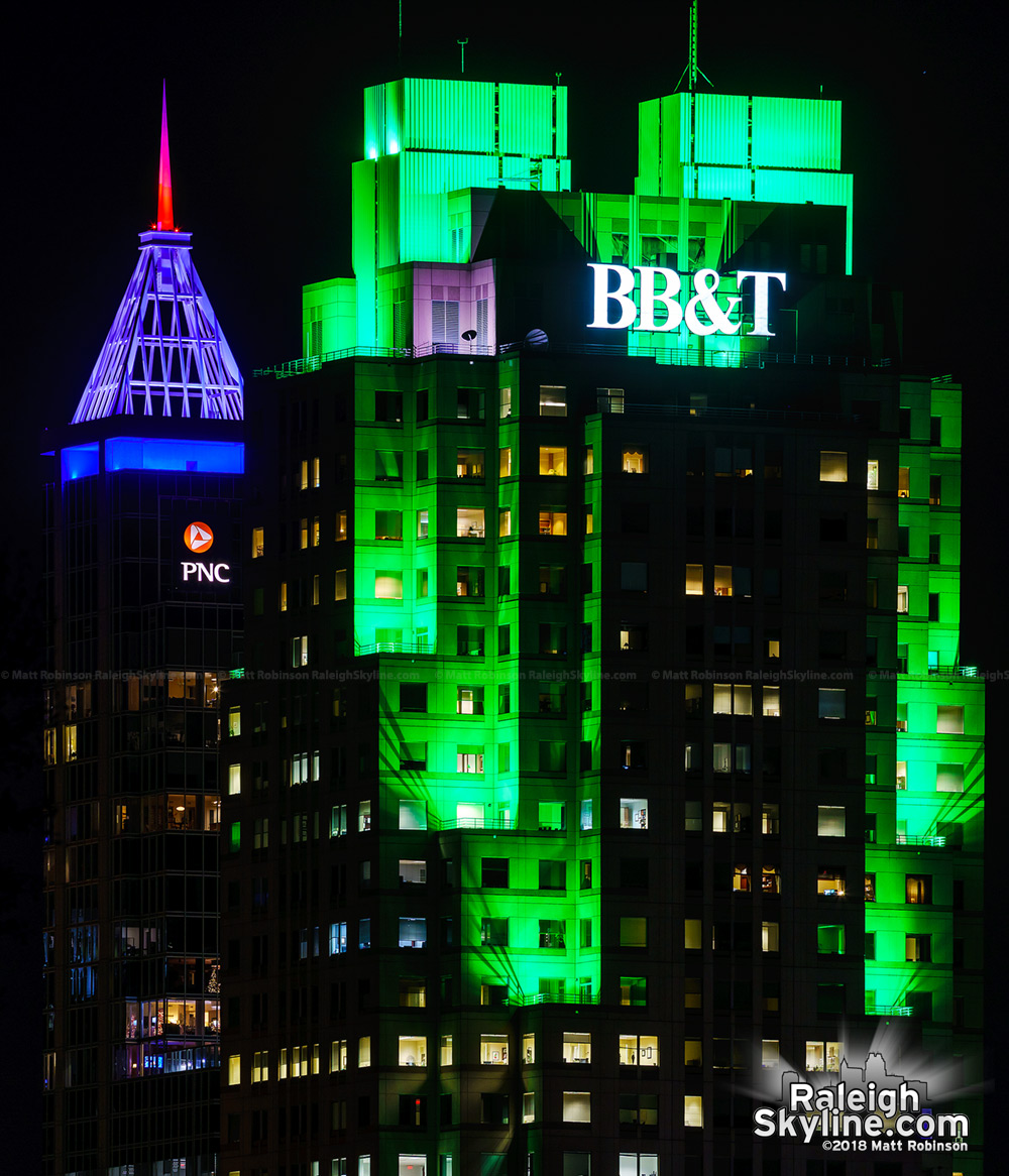 New color combination in the Raleigh skyline