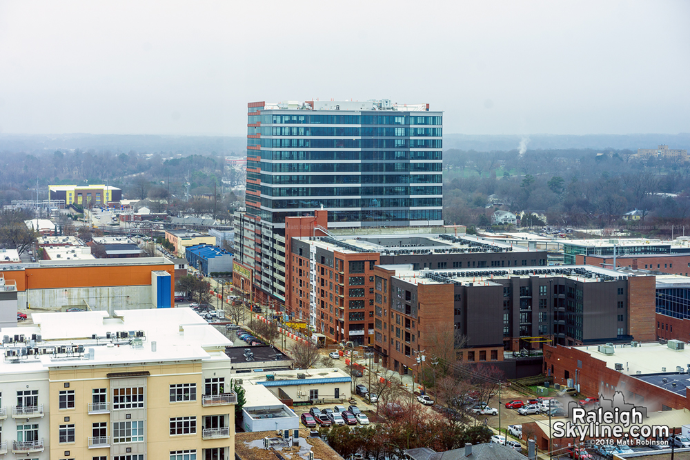 Aerial of The Dillon from Holiday Inn Raleigh