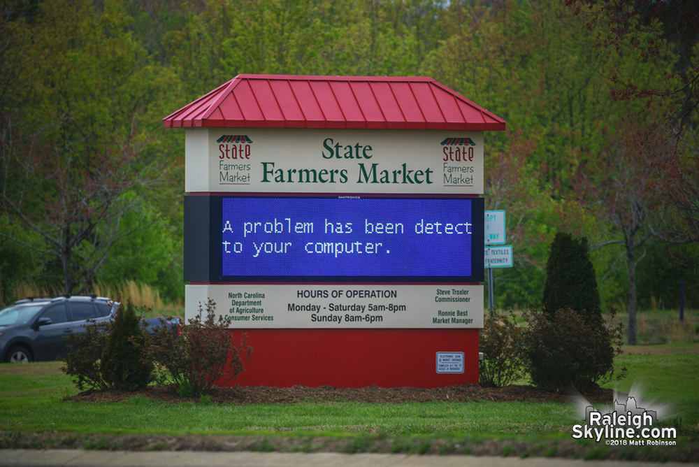 Blue screen at the Farmer's Market