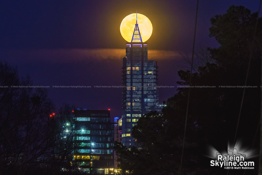 PNC Plaza catches the moon