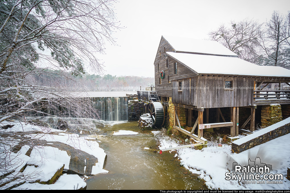 Yates Mill in the snow