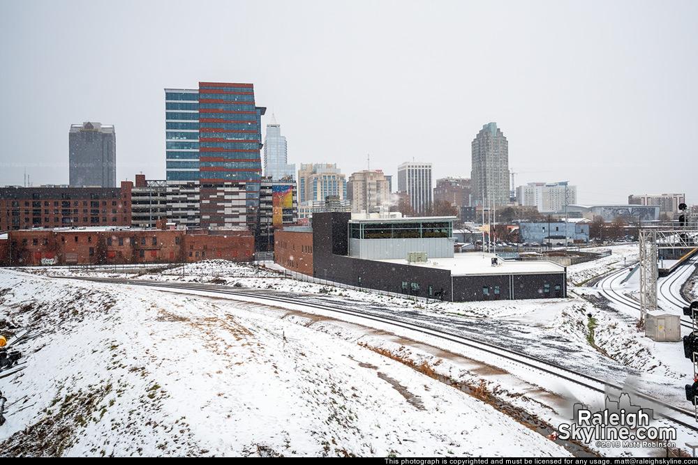 Boylan Avenue skyline in the snow