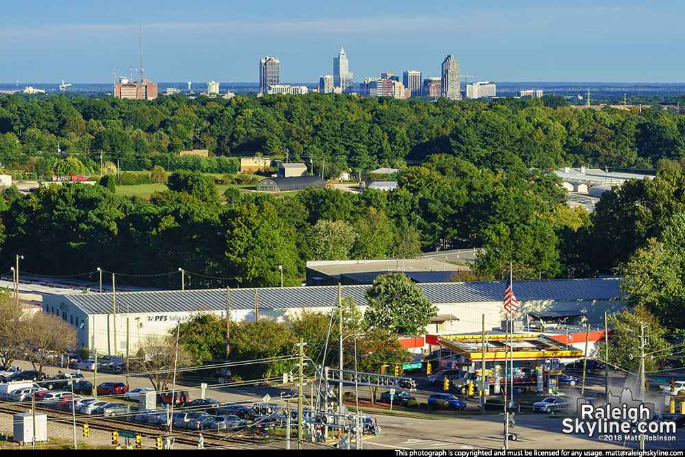 Raleigh from the NC State Fair Ferris Wheel