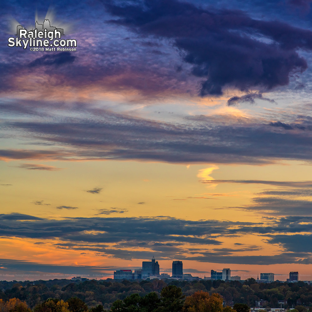 Skyline late day from North Raleigh