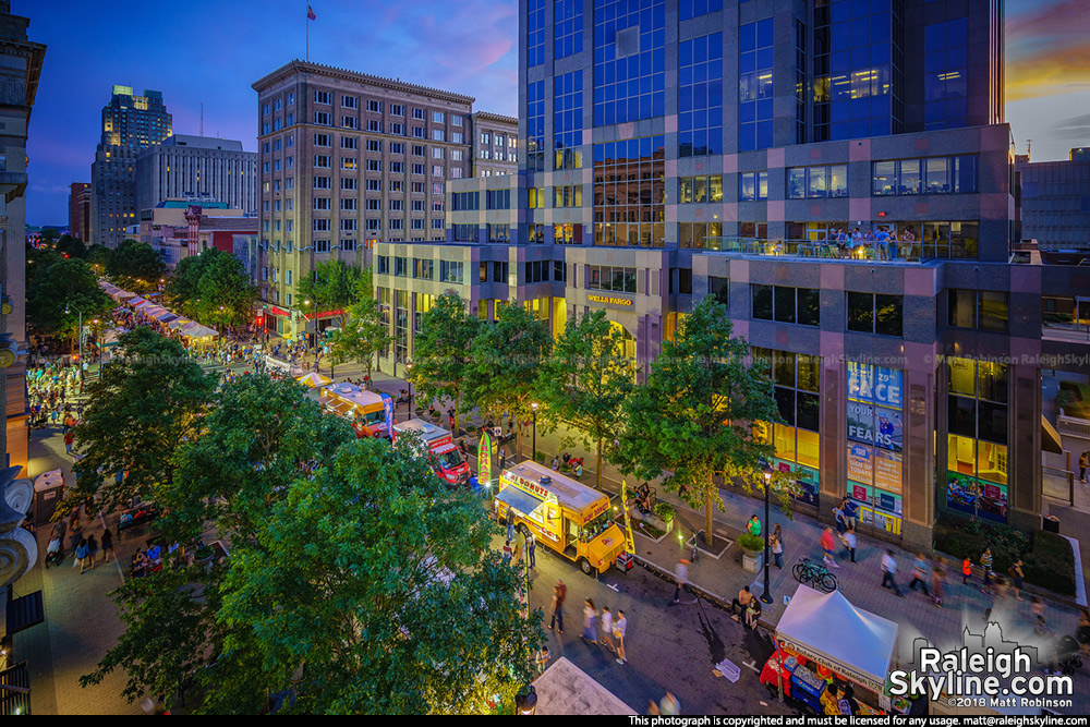Fayetteville Street during the Wide Open Bluegrass Festival 2018