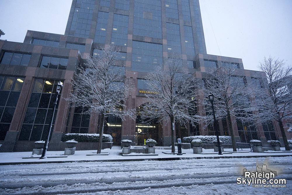 Wells Fargo Capitol Center in snow