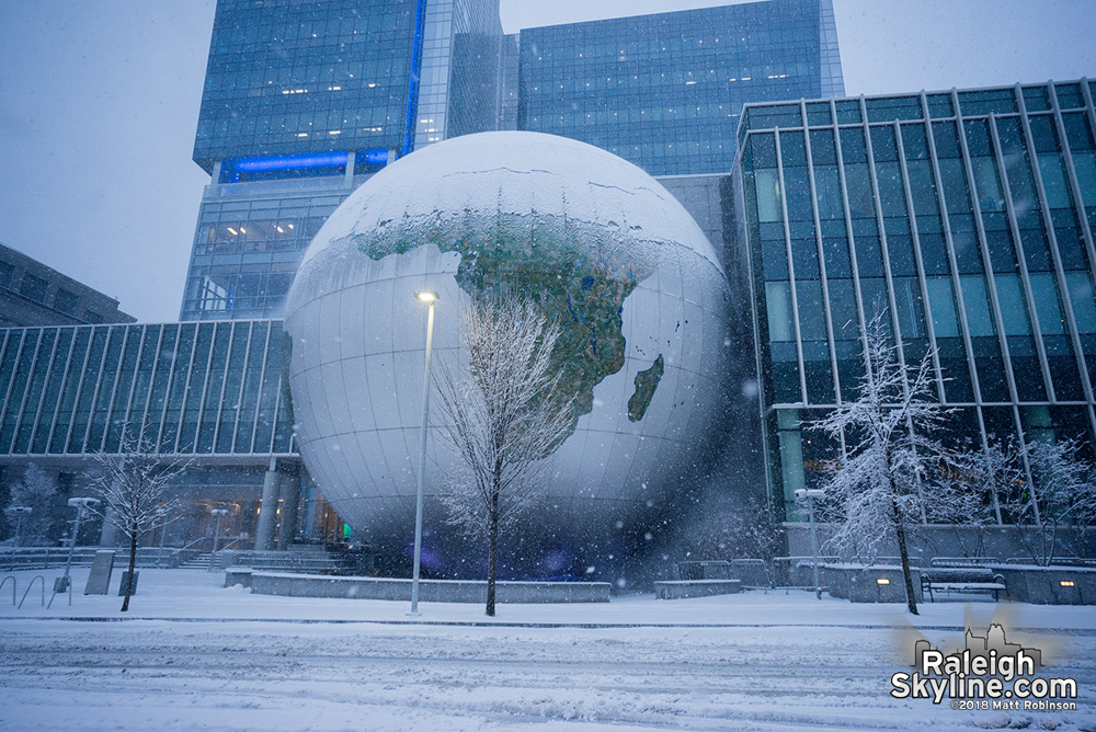 Raleigh Snowglobe at Nature Research Center