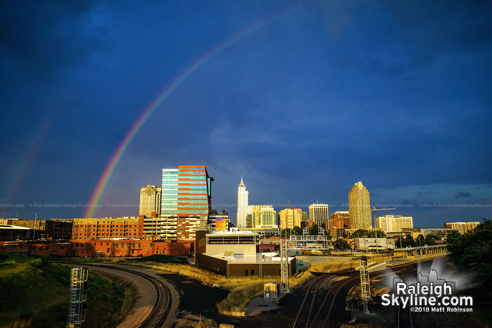 Rainbow season over downtown Raleigh