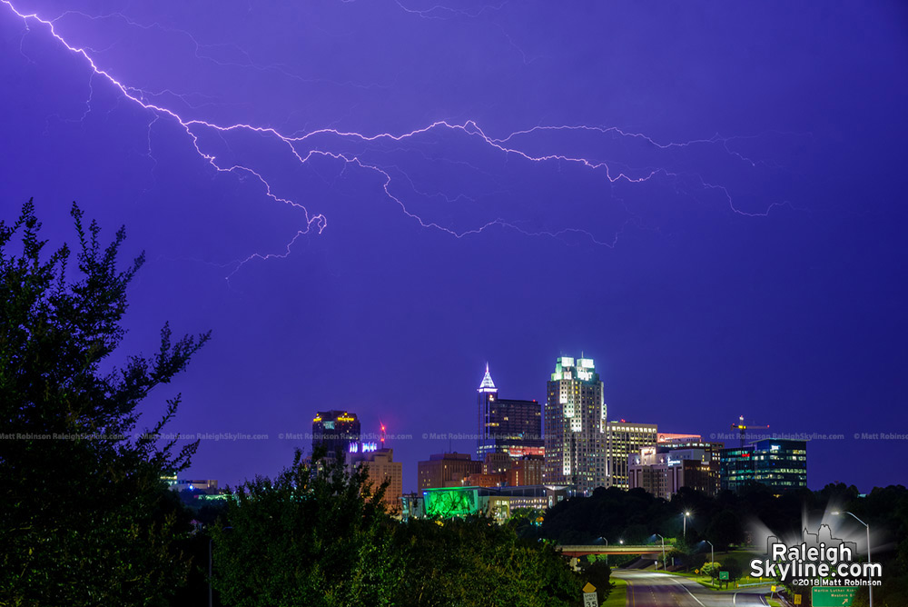 Anvil crawler over Raleigh