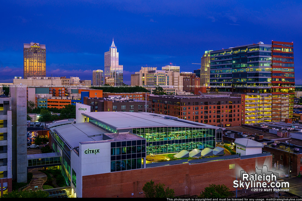 Downtown Raleigh with the Citrix Building