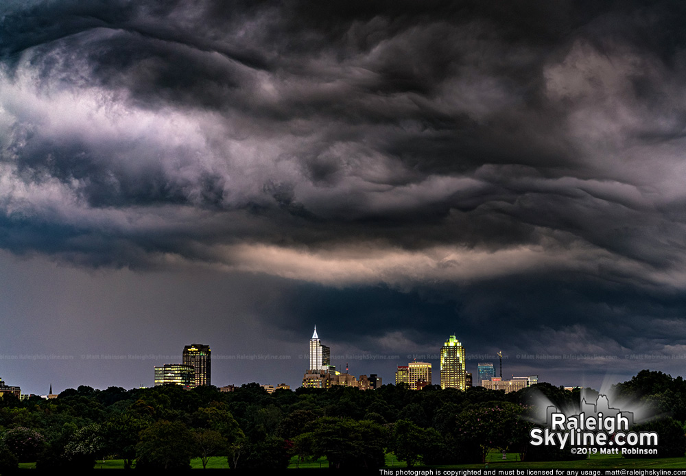 Turbulent clouds above Raleigh