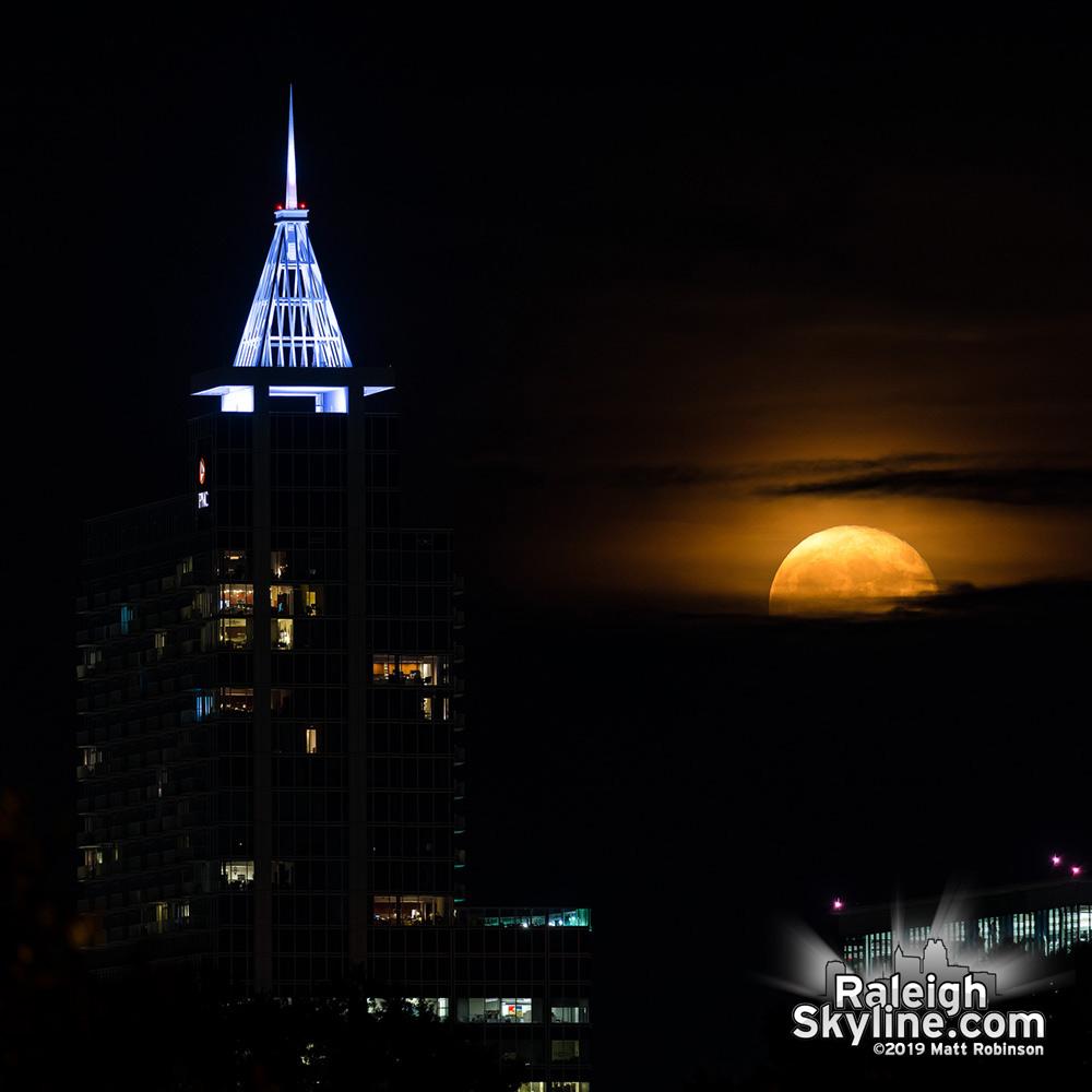 Moonrise behind PNC