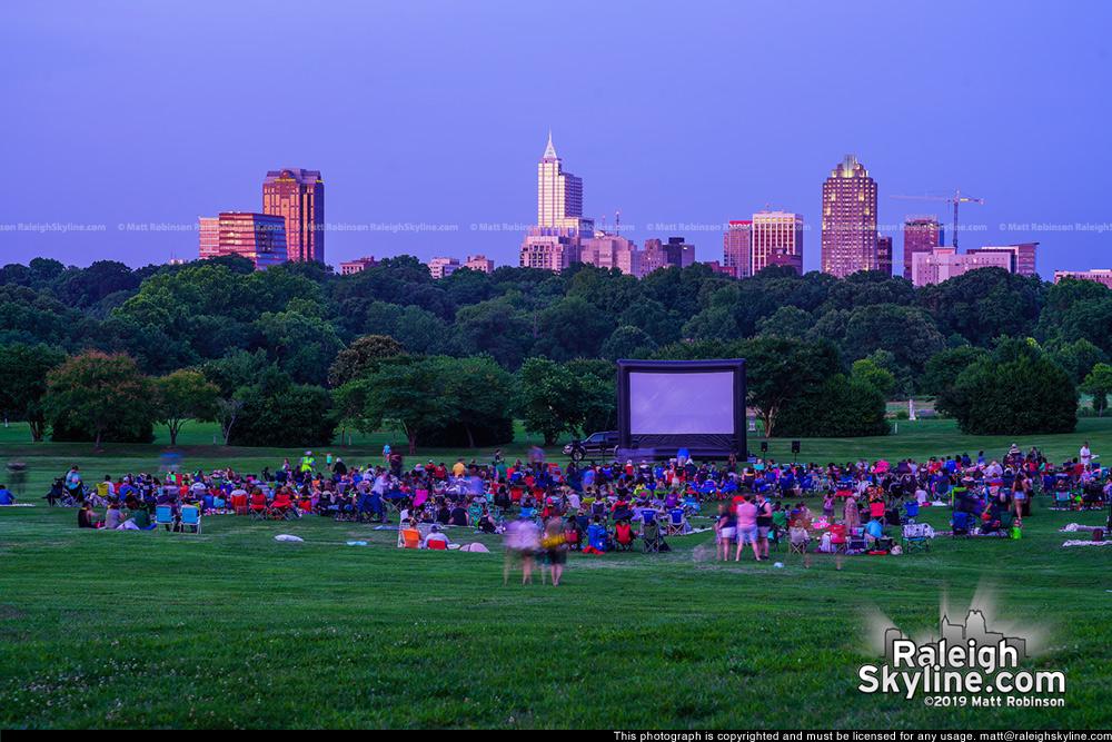 Movie night at Dorothea Dix Park