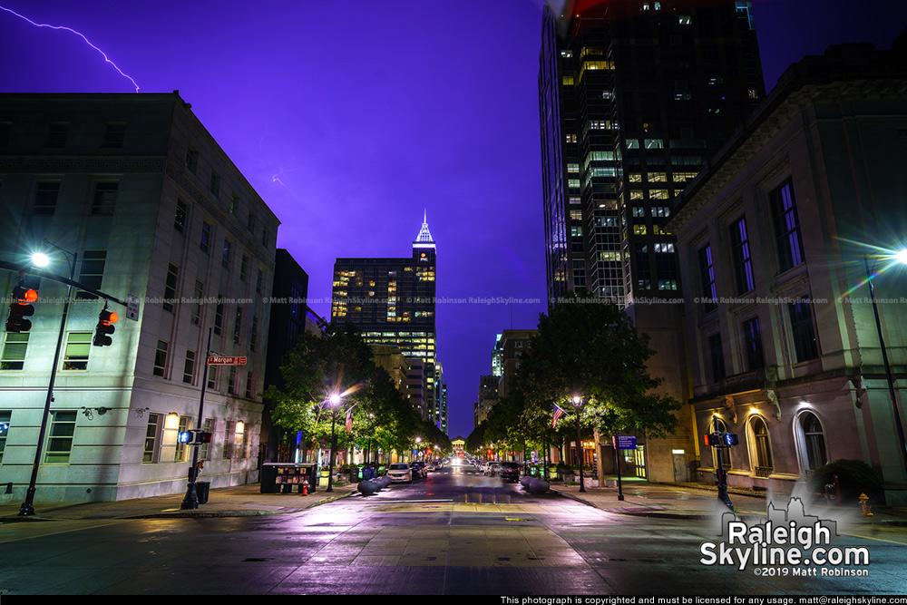 Summer storm from Fayetteville Street
