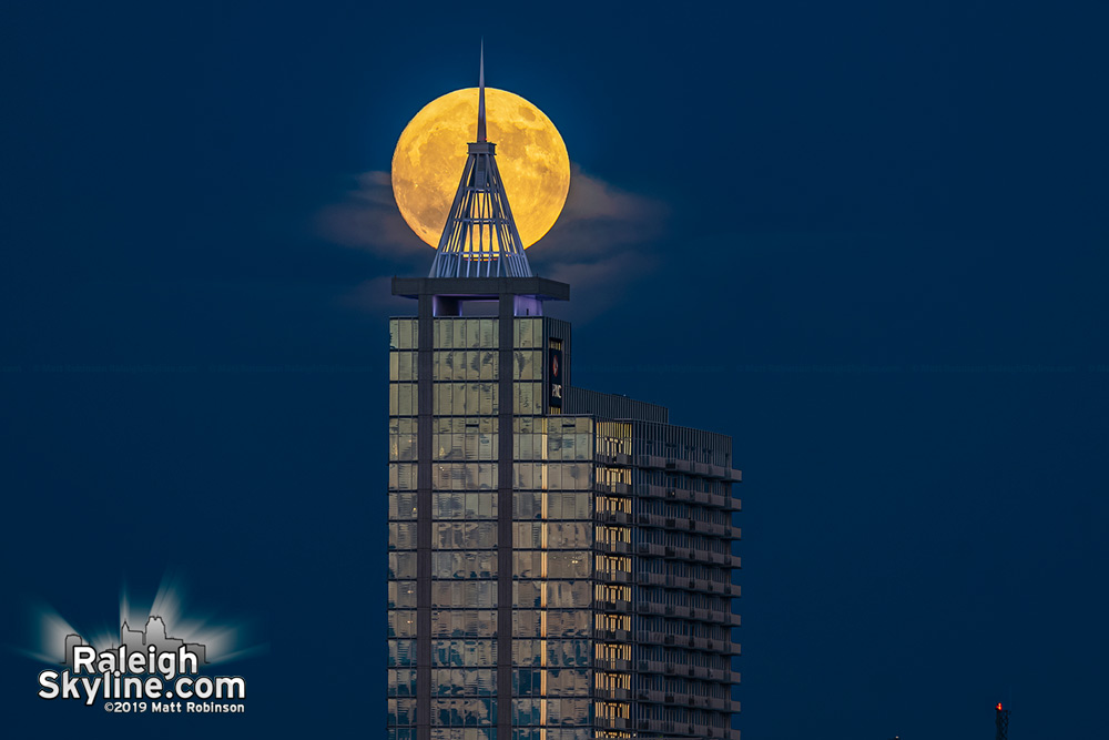 Moonrise behind PNC Plaza