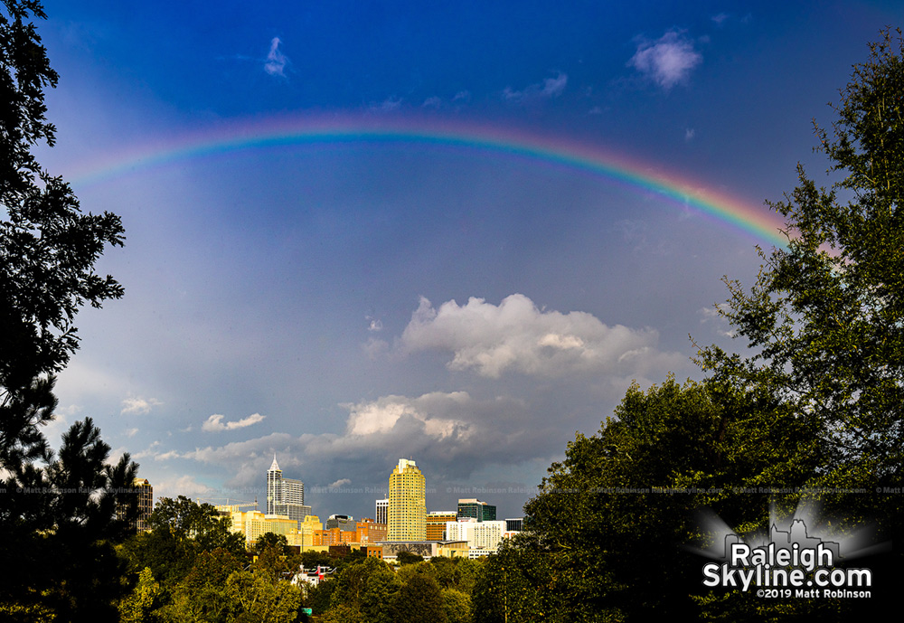 Rainbow Over Raleigh from Dix Hill