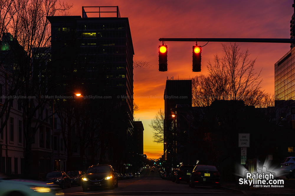 Davie Street sunset
