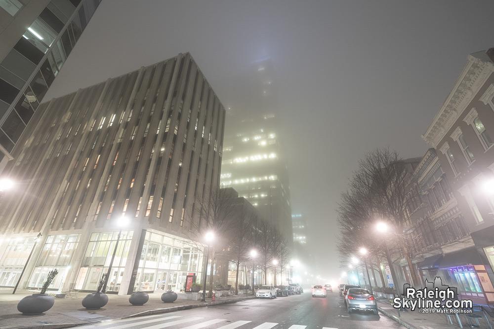 Foggy Fayetteville Street