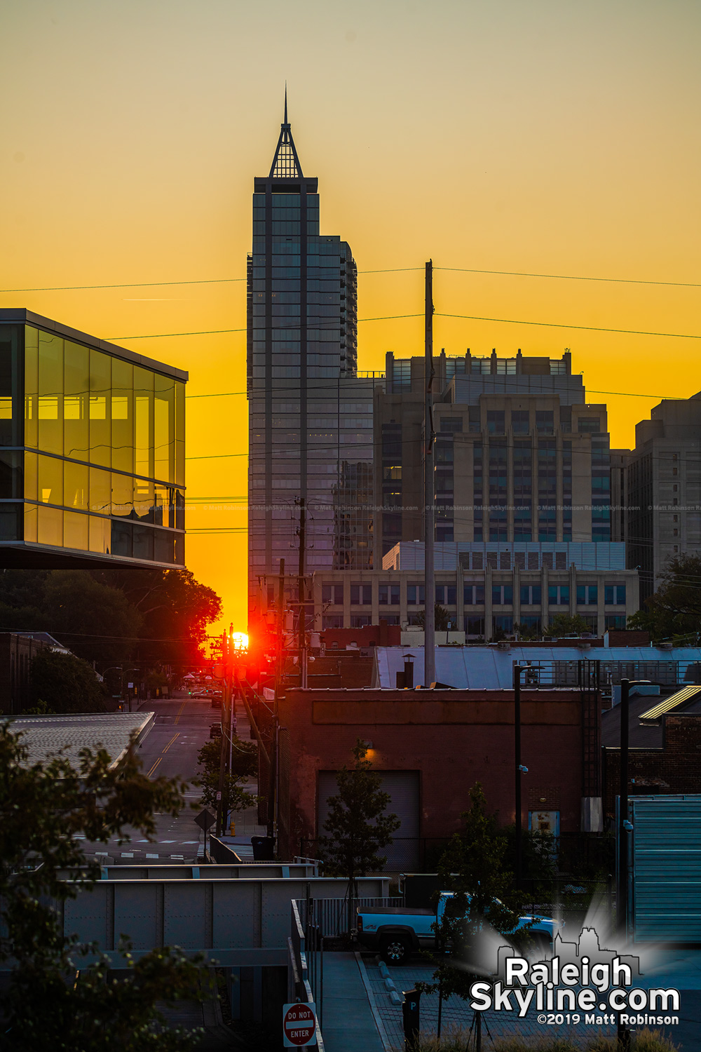 Raleigh-henge sunrise from Union Station