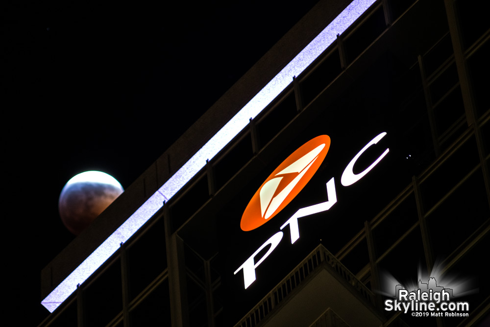 Lunar Eclipse behind PNC Plaza