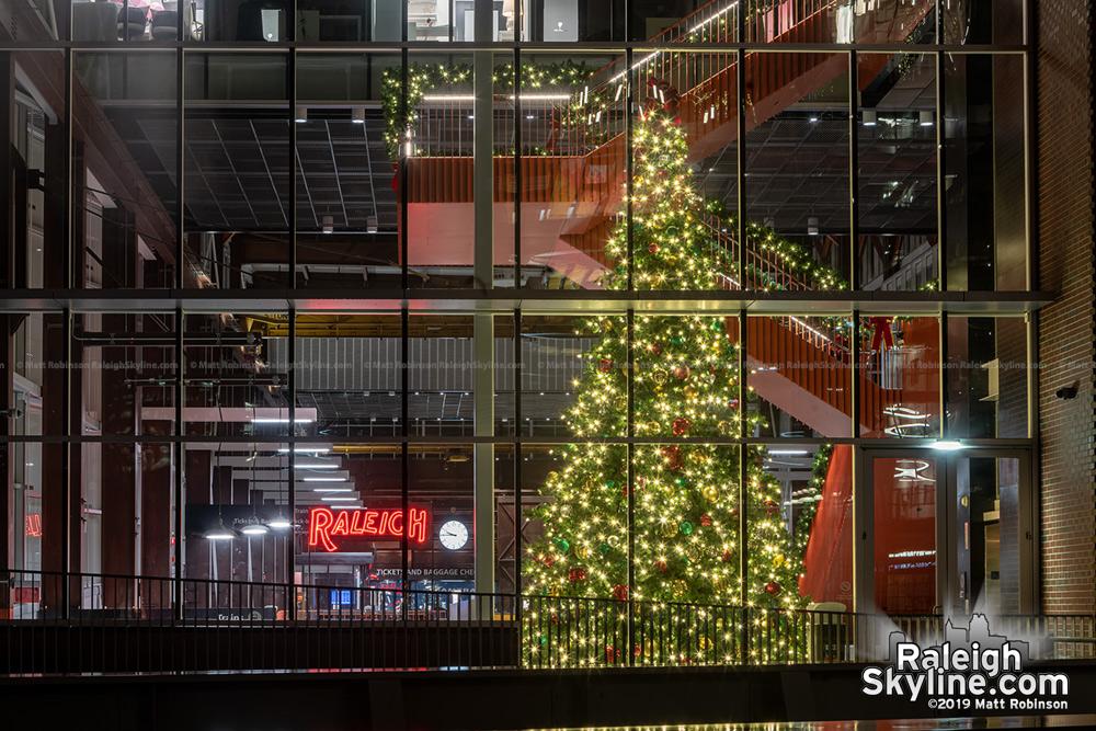 Raleigh Union Station Christmas Tree.