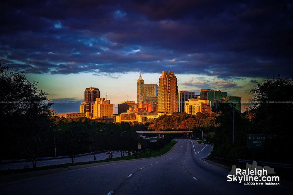 South Saunders view of downtown Raleigh