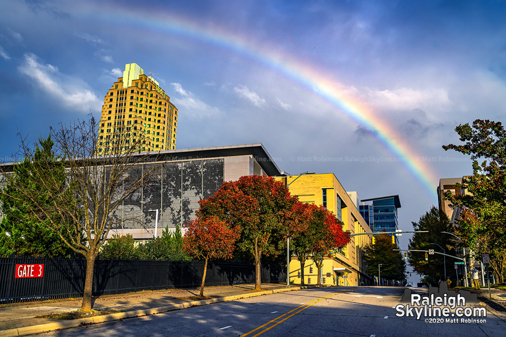Rainbow over the Raleigh Convention Center