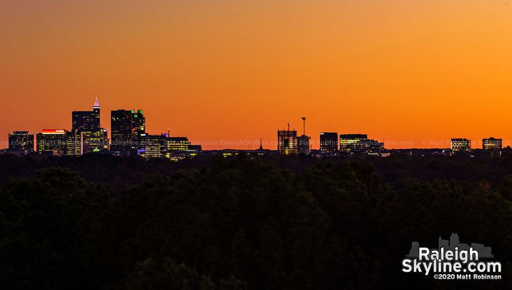 The full Raleigh Skyline as seen from the north, including the budding western side.