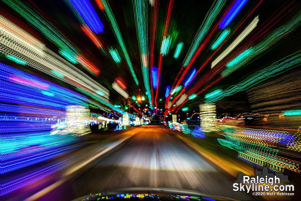 Drive through Christmas lights at Dorothea Dix Park