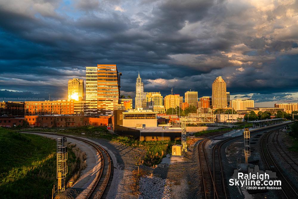 Boylan Avenue Raleigh Skyline Sunset reflections