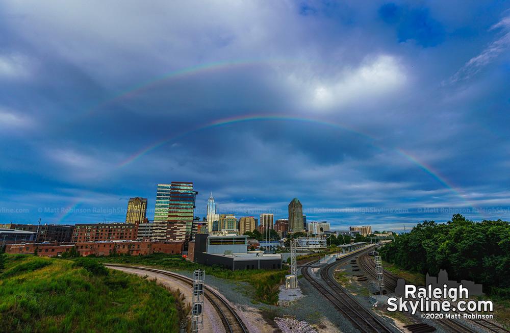 "A ""sunless"" rainbow over Raleigh"