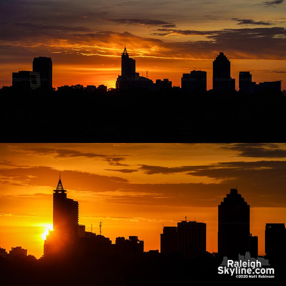 Easter morning sunrise over Raleigh