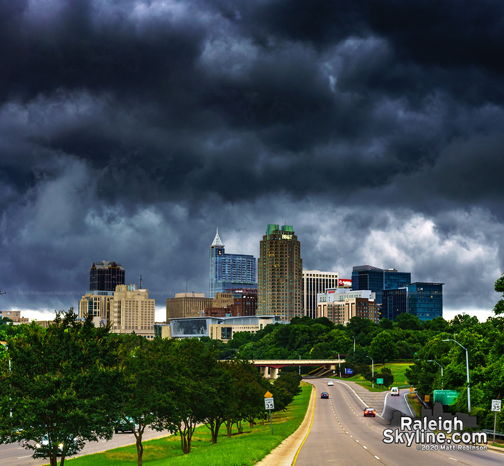 Incoming storm over Raleigh