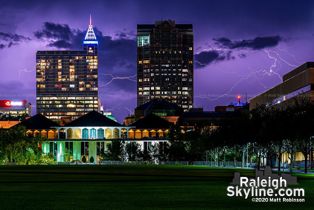 Lightning strikes from Halifax Mall