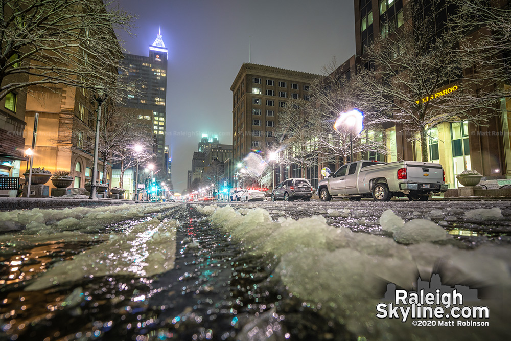 Slushy Fayetteville Street on February 20, 2020
