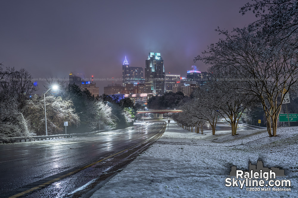 Downtown Raleigh after the snow stopped