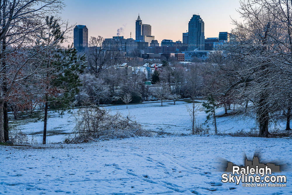 Before sunrise snow from Dix Park