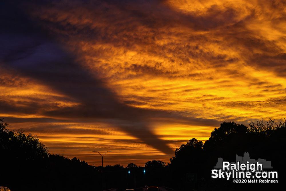 Sunset over Western Boulevard