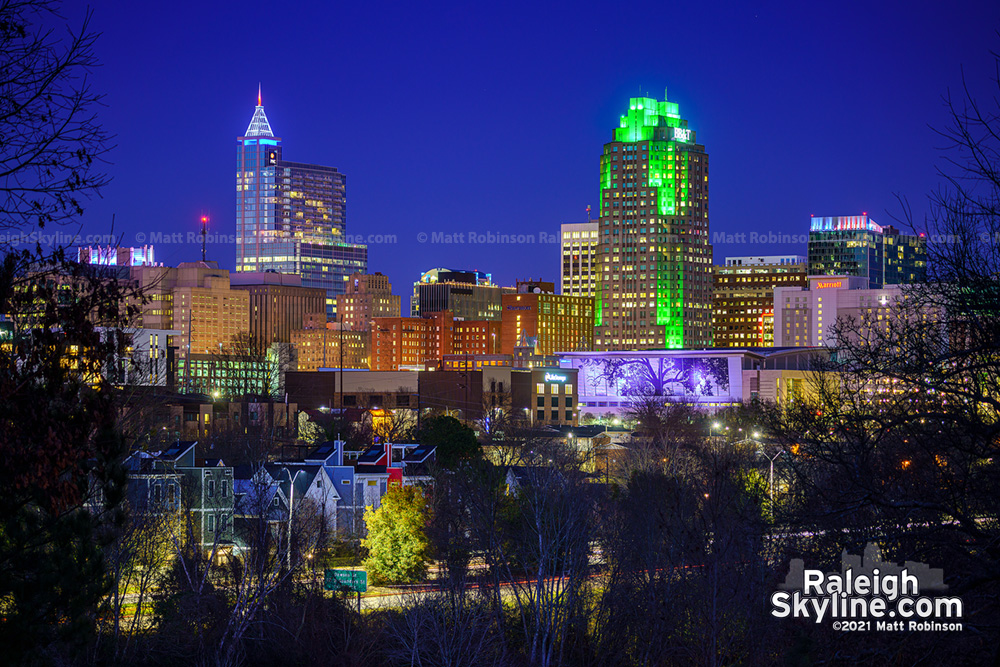 Holiday Skyline from Dix