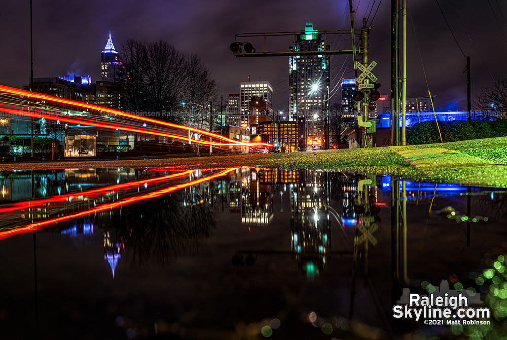 A rainy winter night in Raleigh