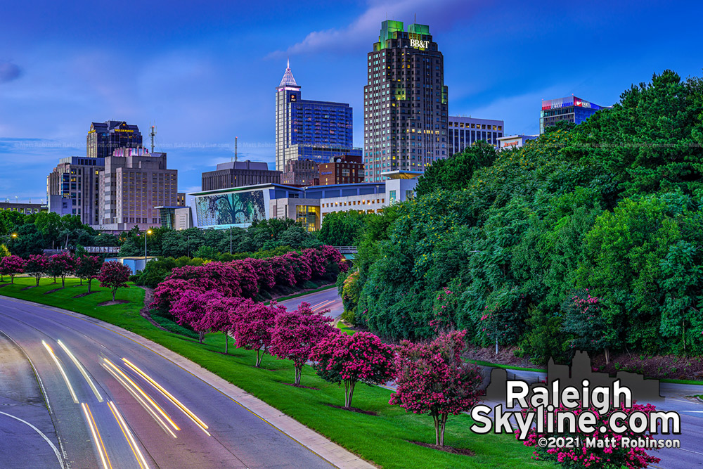 Classic mid-July Downtown Raleigh colors July 2021